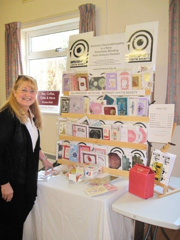 Sue Bridge sells cards at local craft fair