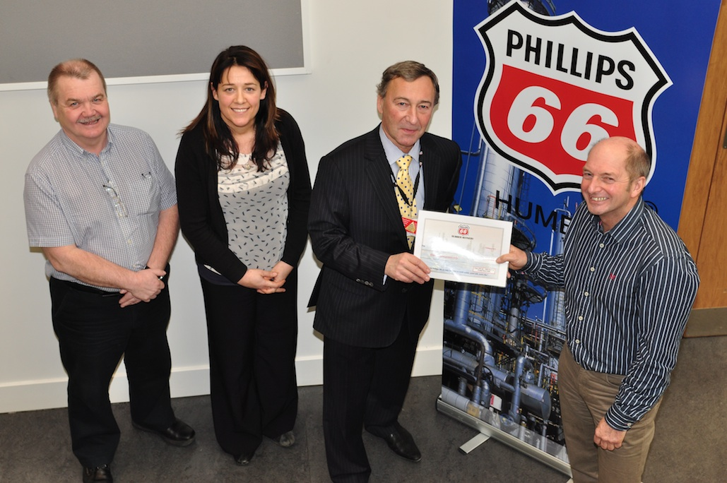 Cheque presentation from Phillips66